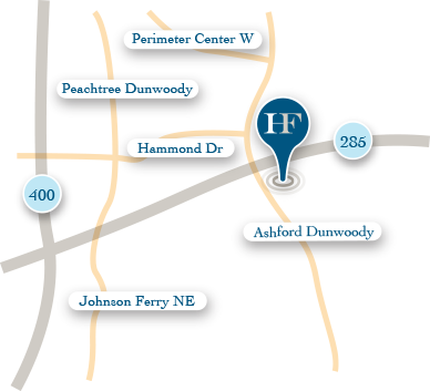 Holcombe Financial office location map close up