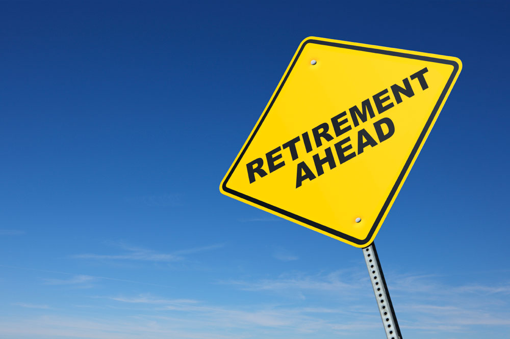 sign that says Retirement Ahead